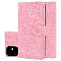 Mandala Series iPhone 11 Portemonnee Hoesje - Roze