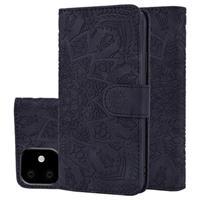 Mandala Series iPhone 11 Portemonnee Hoesje - Zwart