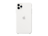 Apple iPhone 11 Pro Max Siliconen Case - Wit A-grade
