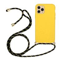 Lunso Backcover hoes met koord - iPhone 12 / iPhone 12 Pro - Geel