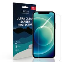 Lunso Duo Pack (2 stuks) Beschermfolie - Full Cover Screen Protector - iPhone 12 / iPhone 12 Pro