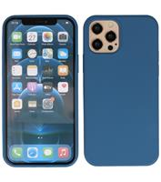 Lunso Softcase hoes - iPhone 12 / iPhone 12 Pro - Blauw