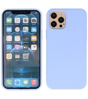 Lunso Softcase hoes - iPhone 12 Pro Max - Lavendel