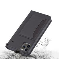 Lunso Bookcover hoes met stand - iPhone 12 / iPhone 12 Pro - Zwart