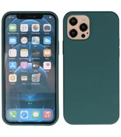 Lunso Softcase hoes - iPhone 12 Pro Max - Army Groen