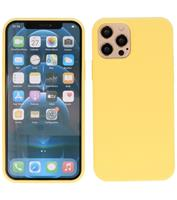 Lunso Softcase hoes - iPhone 12 Pro Max - Geel