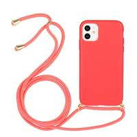 Lunso Backcover hoes met koord - iPhone 11 - Rood