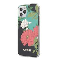 Guess backcover hoes - iPhone 12 / iPhone 12 Pro - Floral No. 1 + Lunso Tempered Glass