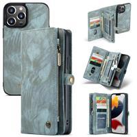 Caseme iPhone 13 Pro Max -  - vintage 2 in 1 portemonnee hoes - Blauw