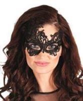 Kanten oogmasker zwart Masquerade