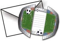 Folat Voetbal Uitnodigingen 8st.