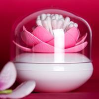 Qualy Lotus wattenstaafjeshouder - Wit/roze