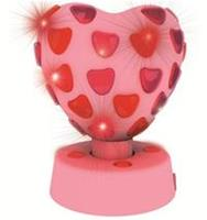 Party FunLights discolamp hart roze 20 cm