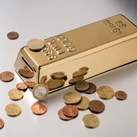 Kikkerland Gold Money Bank