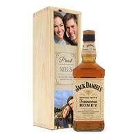 Whisky in bedrukte kist - Jack Daniels Honey Bourbon