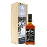 Whisky in bedrukte kist - Jack Daniels