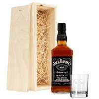 Jack Daniels whiskypakket - met gegraveerd glas