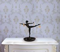 Kikkerland sieradenhouder ballerina 18 x 10 cm staal zwart