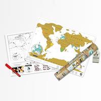 Luckies Scratch Map Wereldkaart