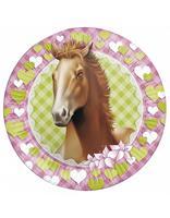 Borden 23 cm 8 stuks Paarden