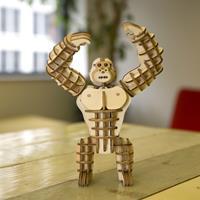 Kikkerland 3D puzzel van hout - Gorilla