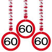 Hangdecoratie 60 verkeersbord