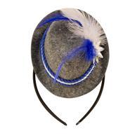 Tiara mini hoedje blauw oktoberfest