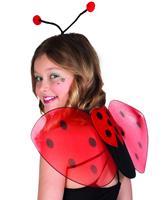 Boland verkleedset lieveheersbeestje 2-delig zwart/rood