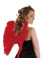 Engelen vleugels 50x50cm rood