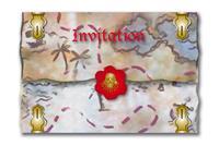 Rode Piraat piraten uitnodigingen - 8 stuks
