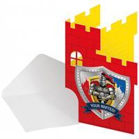 Folat Thema ridder uitnodigingen