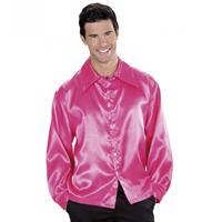 Bellatio Roze satijnen blouse Roze