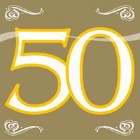 Folat Servetten 50 jaar goud