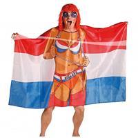 Folat Vlag poncho vrouw