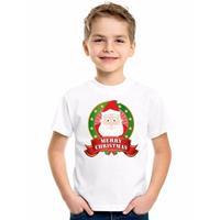 Shoppartners Wit Kerst t-shirt voor kinderen