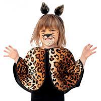 Bellatio Peuter poncho luipaard Bruin