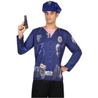 Bellatio Politie verkleed shirt voor heren