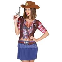 Bellatio Sheriff cowboy verkleed shirt voor dames
