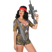 Bellatio Soldaten verkleed shirt voor dames