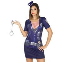 Bellatio Politie verkleed shirt voor dames