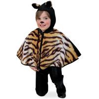 Bellatio Peuter poncho tijger Bruin