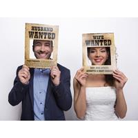 Bruiloft foto prop set Most Wanted