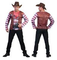 Bellatio Cowboy shirt met 3D print 52