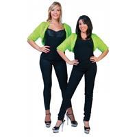 Bellatio Lime groene bolero bontjasje voor dames