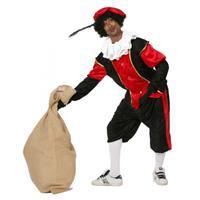 Bellatio Rode zwarte pieten kostuum budget Rood