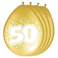 Folat 8 stuks jubileum ballonnen 50 jaar