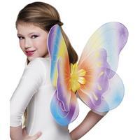 Bellatio Regenboog vlinder vleugels voor kinderen