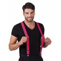 Bellatio Neon roze bretels voor volwassenen