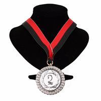 Bellatio Kampioensmedaille nr. 2 aan rood en zwart lint