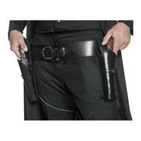 Smiffys Western riem zwart met holsters